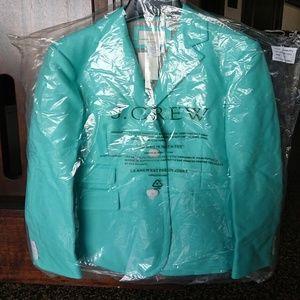 J crew hacking jacket in double serge wool size 6